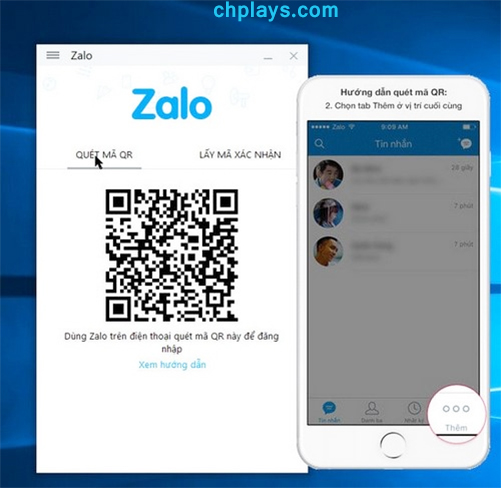 Hướng dẫn đăng nhập Zalo trên máy tính, laptop b