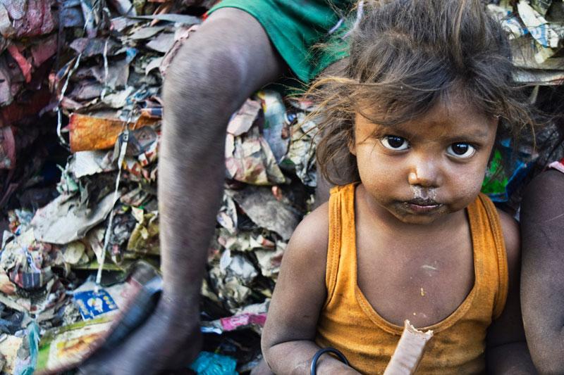 Gambaran Penduduk India yang miskin