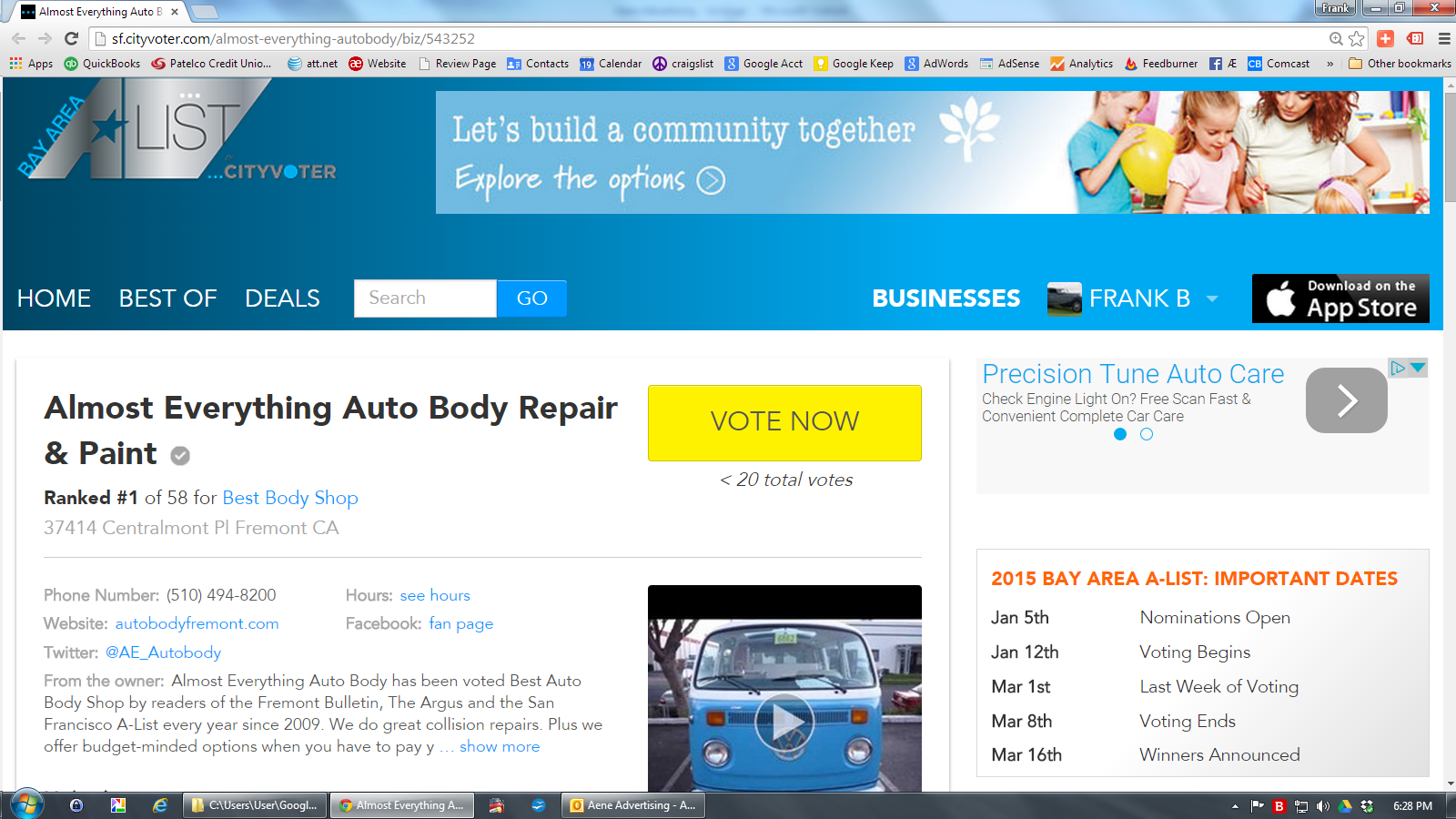Vote Almost Everything Auto Body Best Body Shop