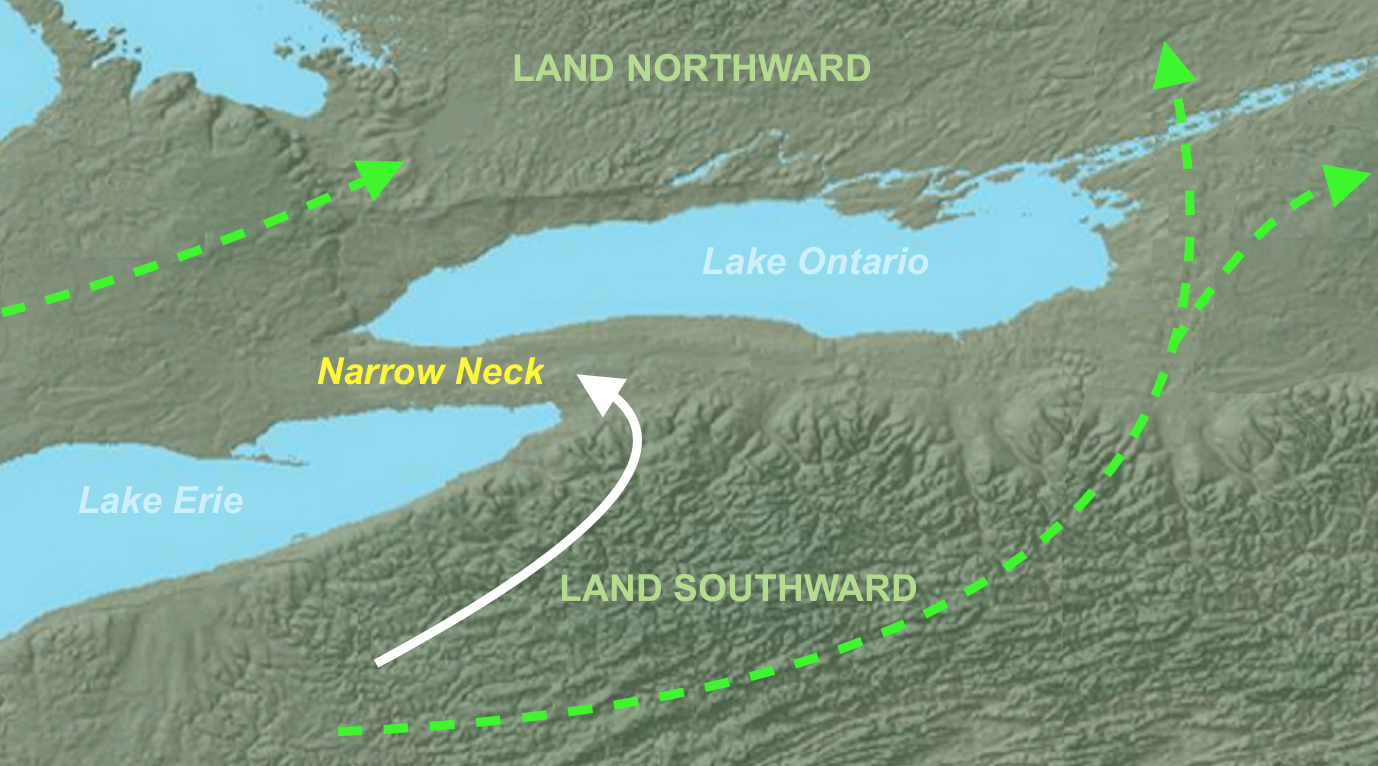 meldrum s narrow neck of land is the niagara peninsula connecting the u s and canada and white arrow is narrow enough to be a military deterrent