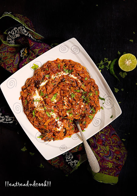 how to cook Chicken Bhorta recipe / Chicken Bharta recipe with step by step pictures