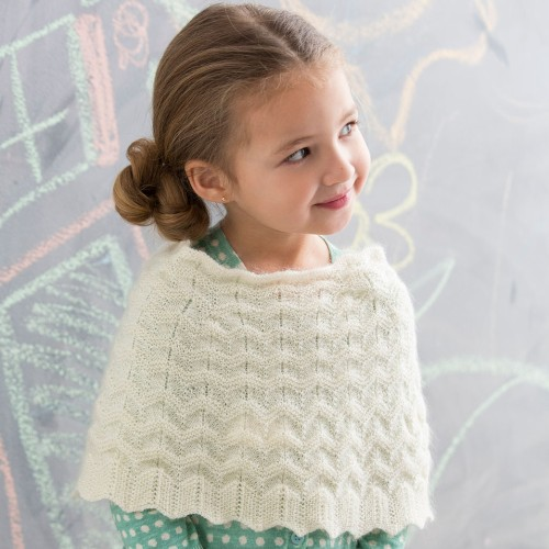 Knit Girl's Poncho - Free Pattern