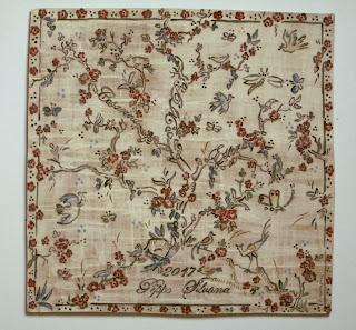 grande piastrella ceramica mezzaro genovese  uccelli, fiori, albero della vita carreau mural fait et décoré main arbre de la vie