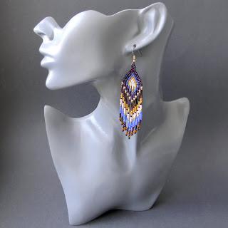 купить серьги из бисера этнические украшения анабель украина