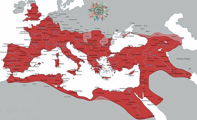 Roma İmparatorluğu'nun ulaştığı en geniş sınırlar