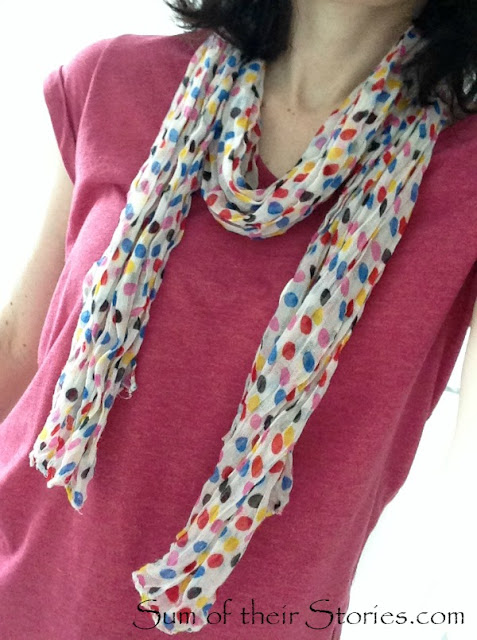 fine scarf before refashion