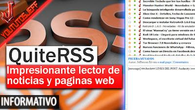 QuiteRss, QuiteRss español, lector de noticias
