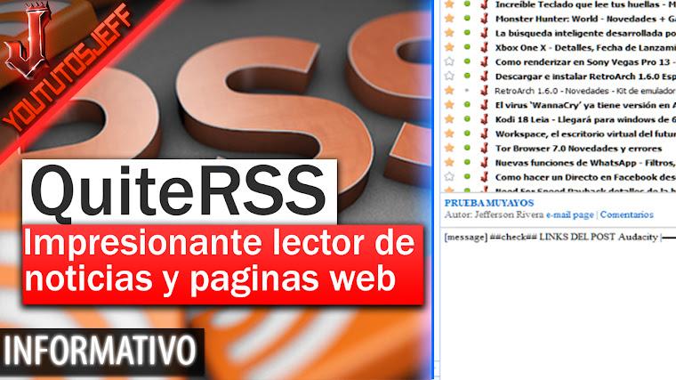 QuiteRSS - Impresionante lector de noticias de código abierto