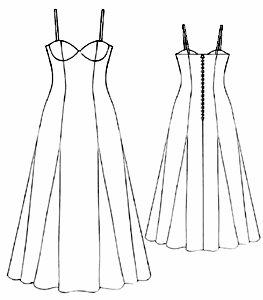 Moldes de vestidos largos para imprimir