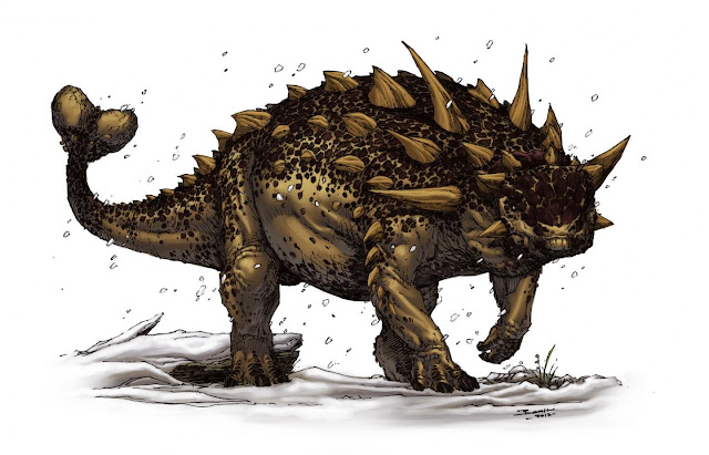 Flipside of a dinosaur mystery: 'Bloat-and-float' explains belly-up ankylosaur fossils