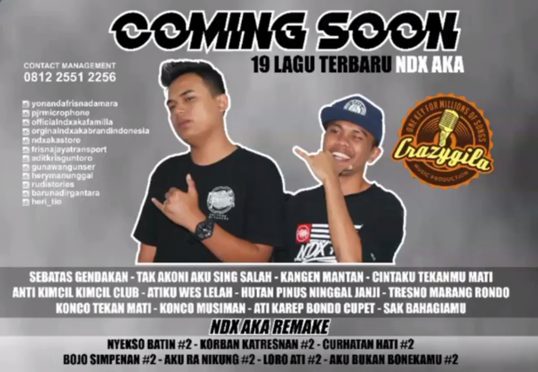 Download Lagu NDX A.K.A Ft.PJR Terbaru [2017] [Single] ~ Tips n Trick