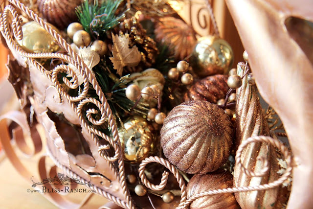 Copper Colored Ornaments, Bliss-Ranch.com