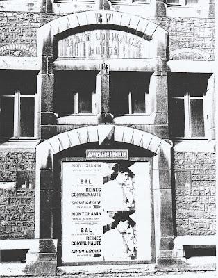 Dernière photographie de l'école de filles de la rue Carnot  prise en mars 1974, année de sa destruction (collection musée)