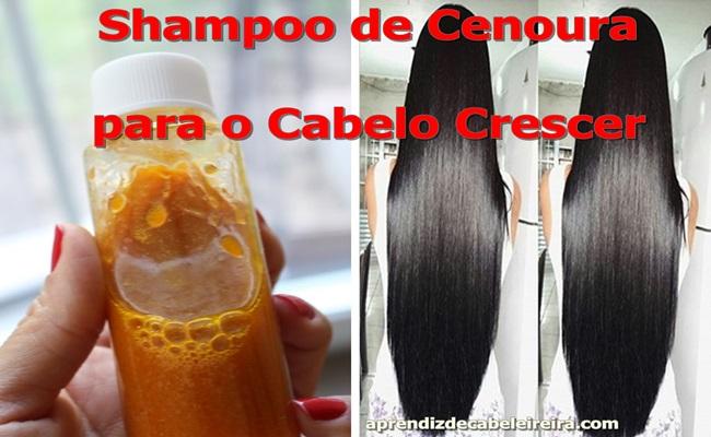 Shampoo de Cenoura para o Cabelo Crescer