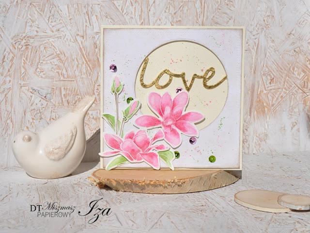 kartka z magnoliami