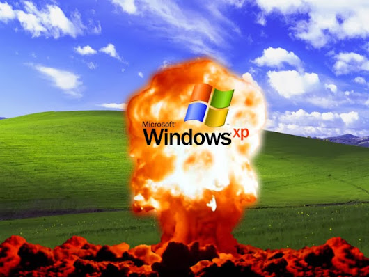 Moondog Web Design News: Support for Windows XP is ending soon. Run for your life!