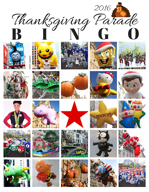 2016 Thanksgiving Day #MacysParade BINGO {Free Printable}