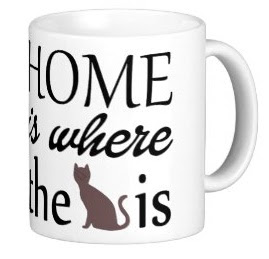 Home is Where the Cat Is Coffee Mug, a great Father's Day gift for a man who loves cats.