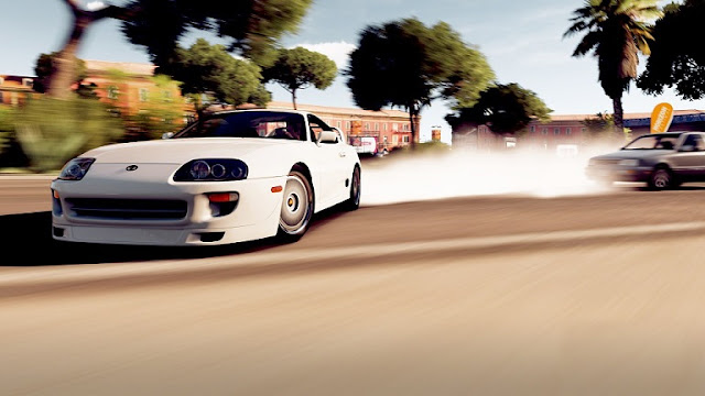 old-classic-model-toyota-supra-white-drifting