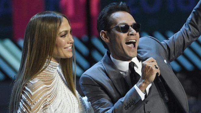 Jennifer Lopez and Marc Anthony reunite at Latin Grammys