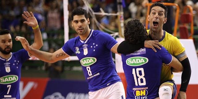 Com apoio da torcida, Sada Cruzeiro vence mais uma