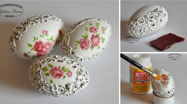 DIY Διακοσμητικά αντικέ αυγά