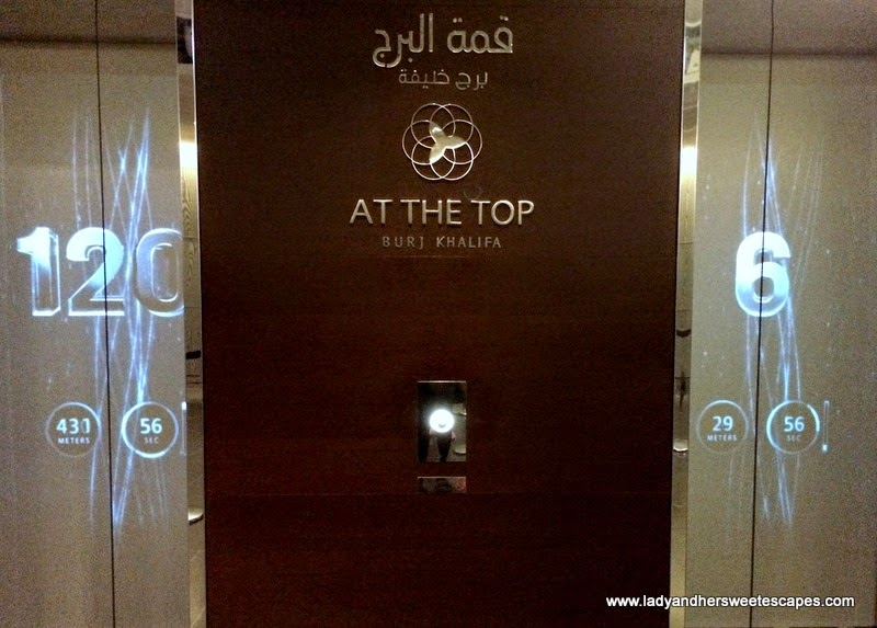 Burj Khalifa's high speed elevator to the observation deck