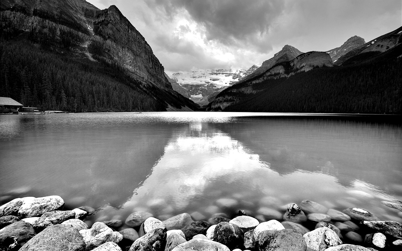mountains mountain lake widescreen