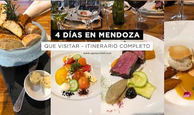 4 días en Mendoza, Argentina - Itinerario completo día por día de que hacer.