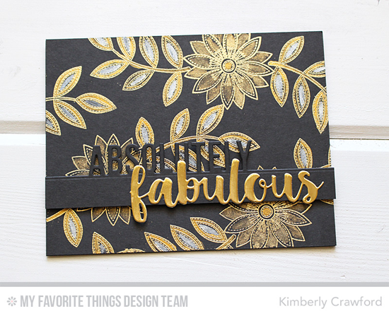 Handmade card from Kimberly Crawford featuring Funky Flowers stamp set and Absolutely Fabulous Die-namics #mftstamps
