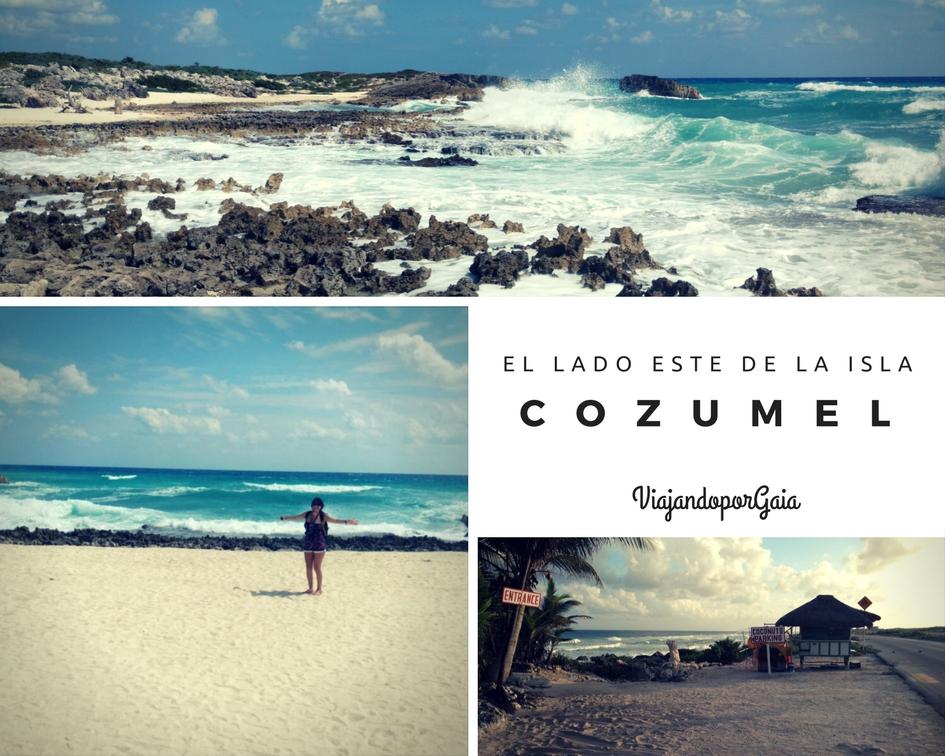 El lado este de la isla de Cozumel
