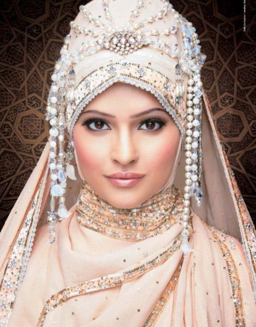 Latest Bridal Hijab and Scarf 2016