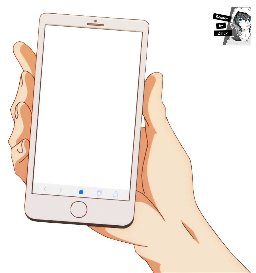 Holding Cell Phone