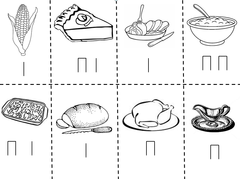 kaboose coloring pages thanksgiving meal - photo #35