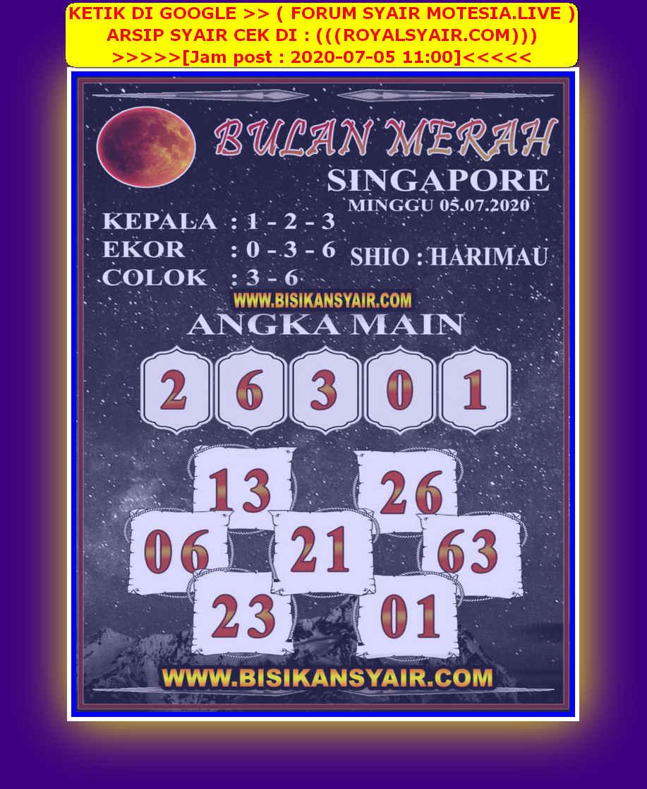 Kode syair Singapore Minggu 5 Juli 2020 159