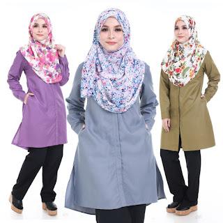 Blouse Plus size Muslimah Naura