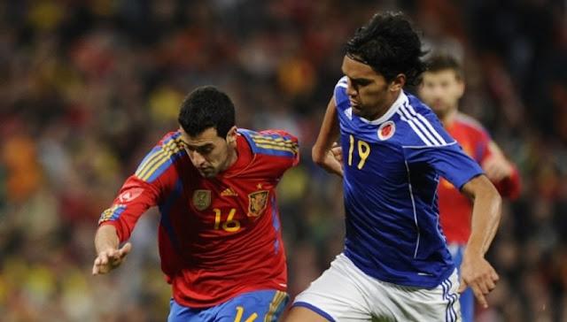España vs Colombia en vivo Amistoso