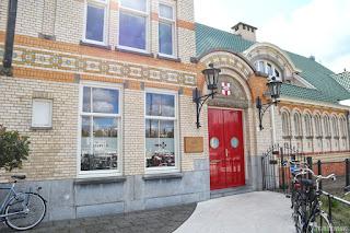 Rotterdam royal row and sail club house colourful bricks
