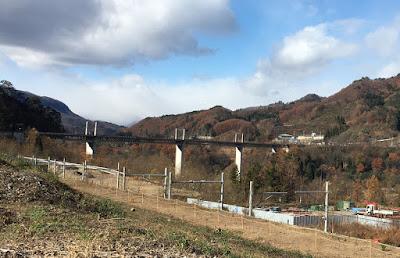 川原湯温泉駅から見る不動大橋