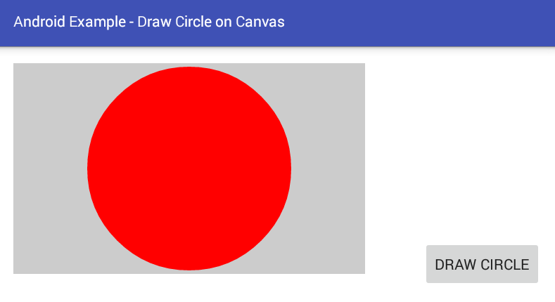 android - How to draw a circle on a Canvas