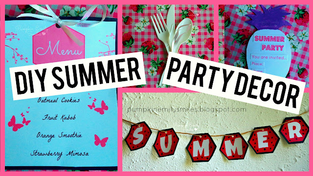 Simple DIY Summer Party Decor