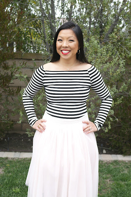 Date Night Tulle Skirt Outfit