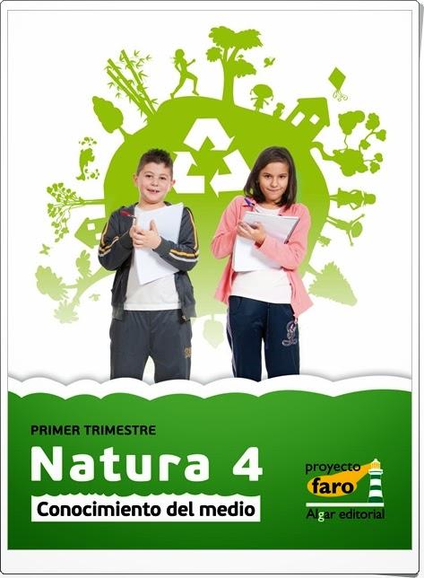 """""""Natura 4"""". Actividades digitales de Conocimiento del Medio de 4º de Primaria. Ediciones Bromera."""
