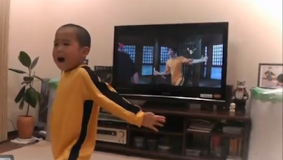 Bruce Lee's Mini-me version. Perfectly copied even the moves