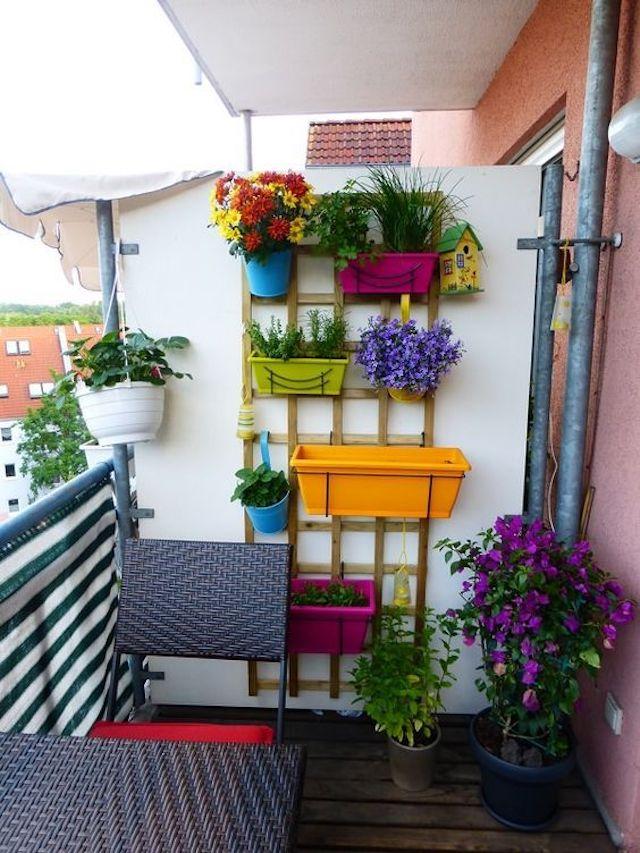 Balcón con jardinera hand made