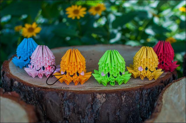 585. Ośmiorniczki z origami / 3d origami octopus