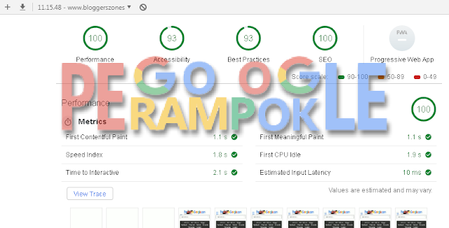 Cara Optimasi Template Agar 100 % di Audits Google Chrome