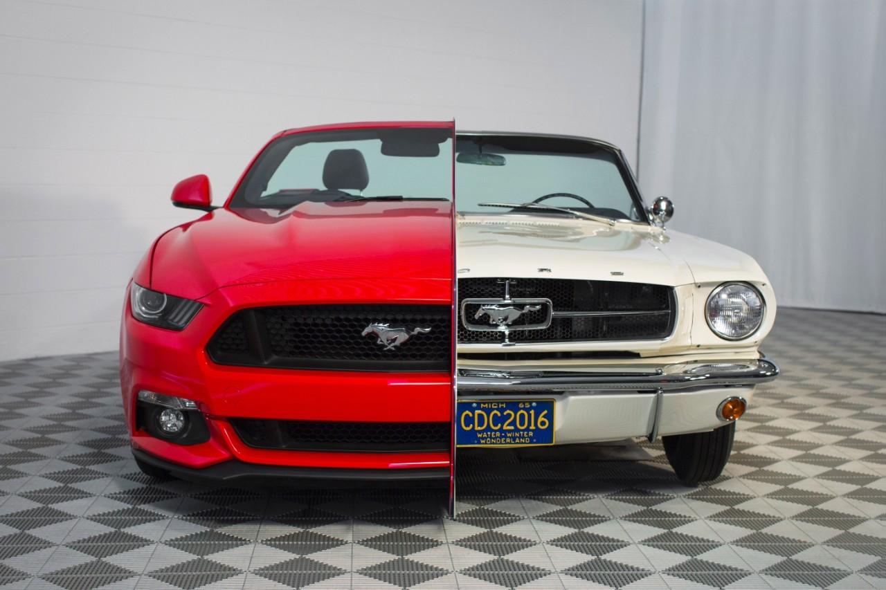 Bản 2015 của Mustang đã lớn hơn, động cơ mạnh hơn, bóng nhoáng và hiện đại hơn