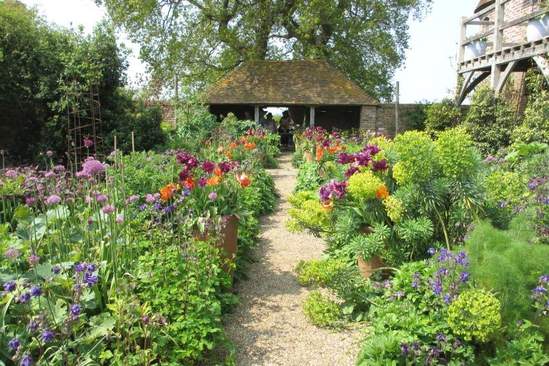 Borduras con flores y hortalizas