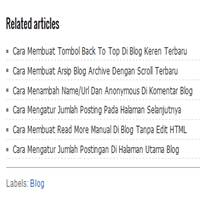 Cara Mengatur Jumlah Posting Di Related Articles Blog